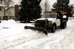 Commercial Snow Removal Canton MI - Snow Plowing, Bulk Salt and Ice Remover - Tilt and Sons Landscape - snowplow